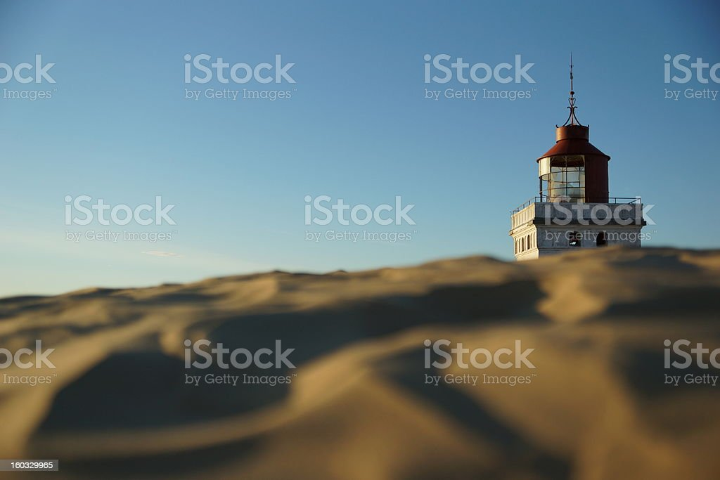 Rubjerg Knude Lighthouse, Northern Jutland, Denmark royalty-free stock photo