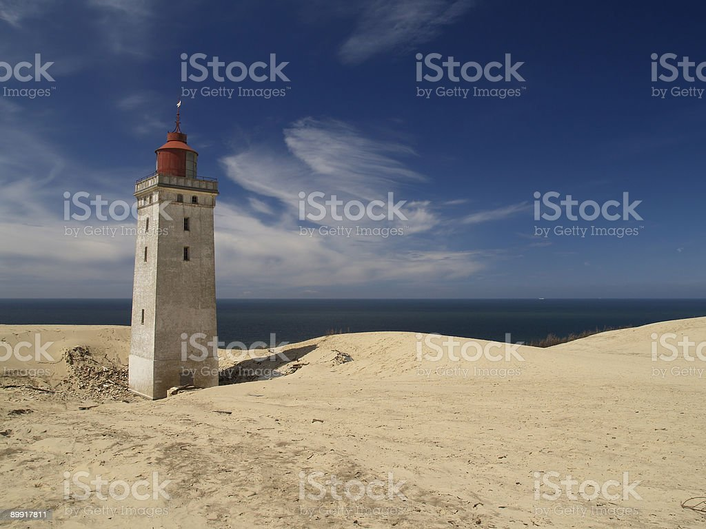 Rubjerg Knude lighthouse royalty-free stock photo