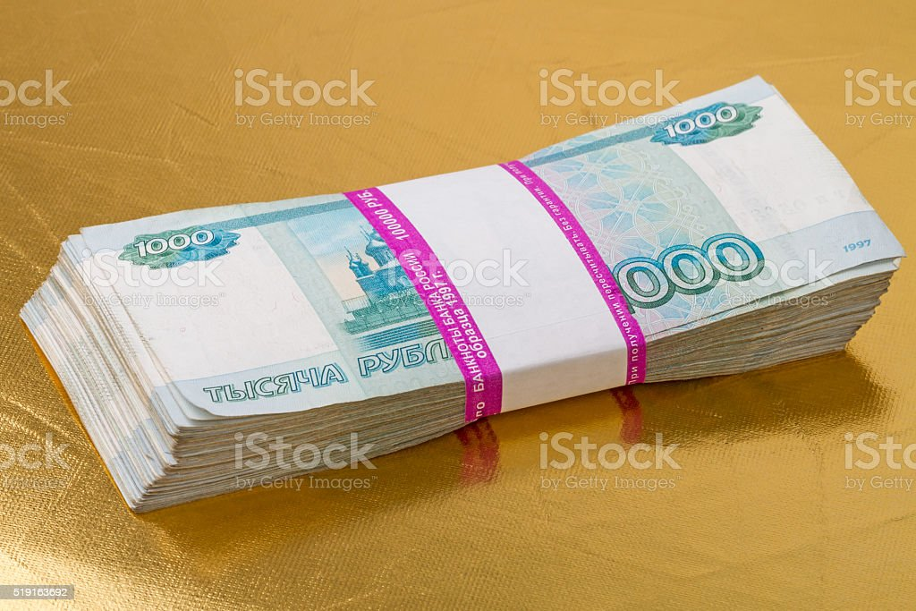 100,000 rubles stock photo