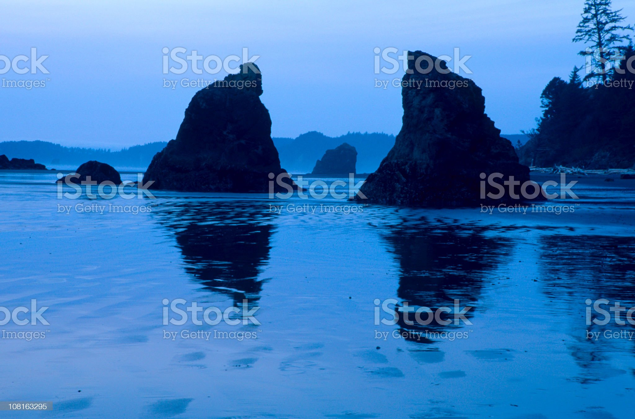 Ruby Beach Coastline at Sunrise royalty-free stock photo