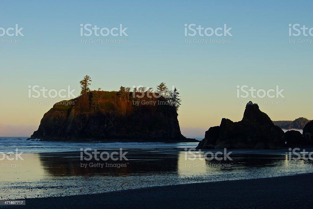 Ruby Beach Glowing Rock stock photo