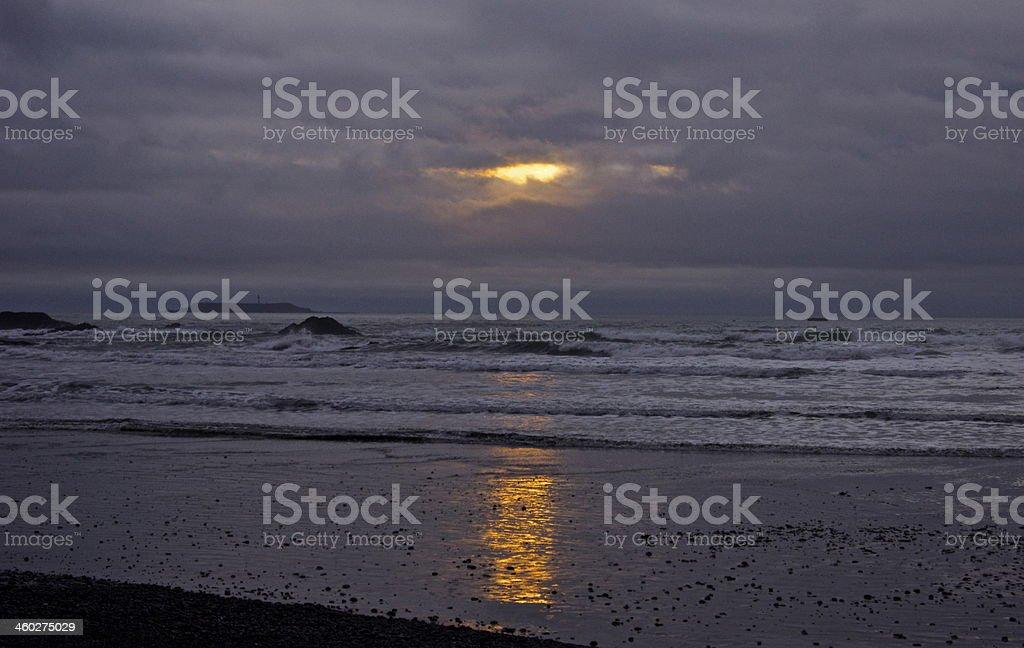 Ruby Beach Light stock photo
