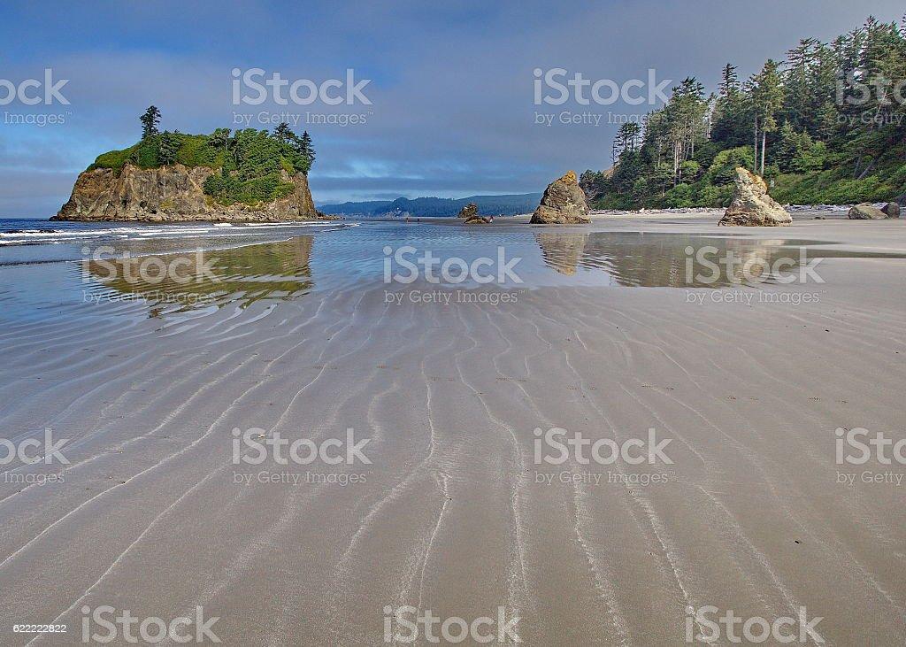 Ruby Beach, Pacific Coast stock photo