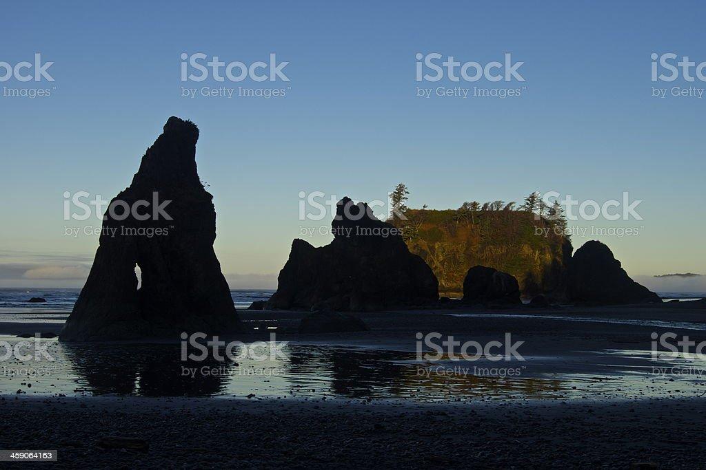 Ruby Beach Rocks stock photo