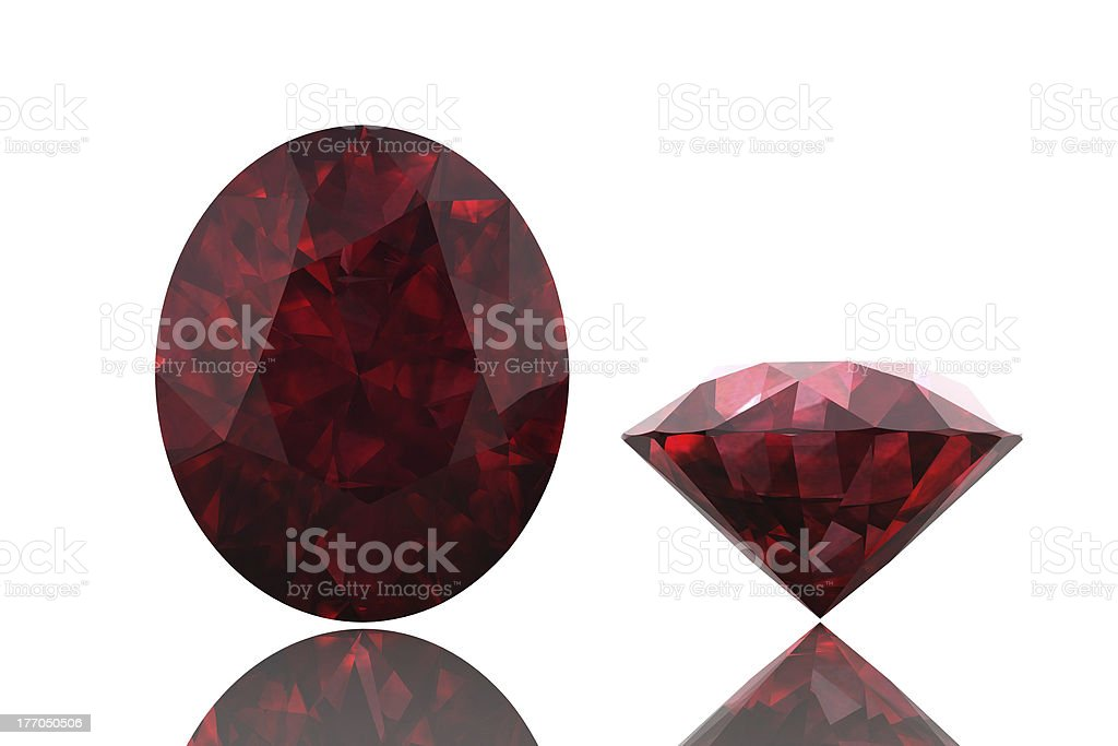 ruby ,Citrine royalty-free stock photo