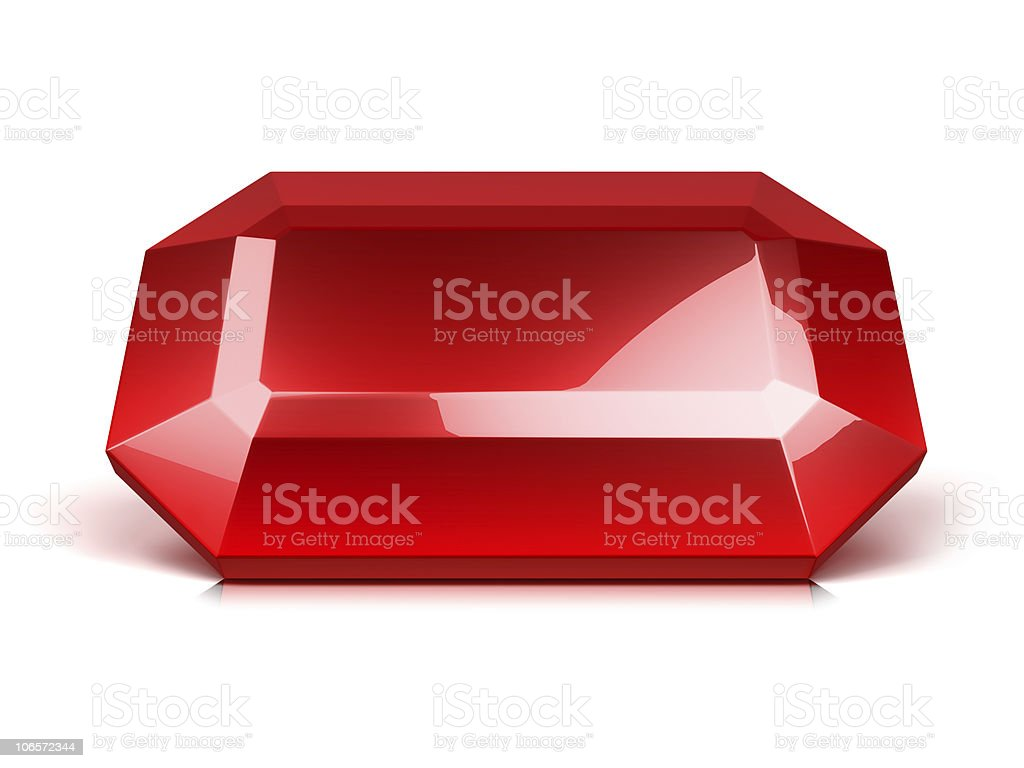ruby crystal isolated royalty-free stock photo