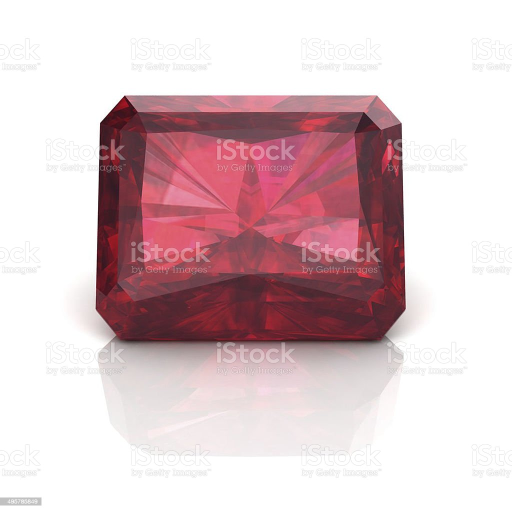 Ruby Emerals cutting stock photo