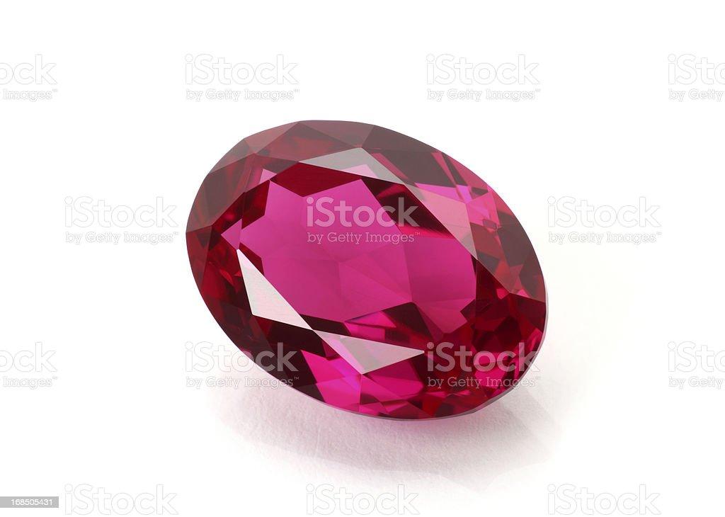 Ruby Gemstone stock photo