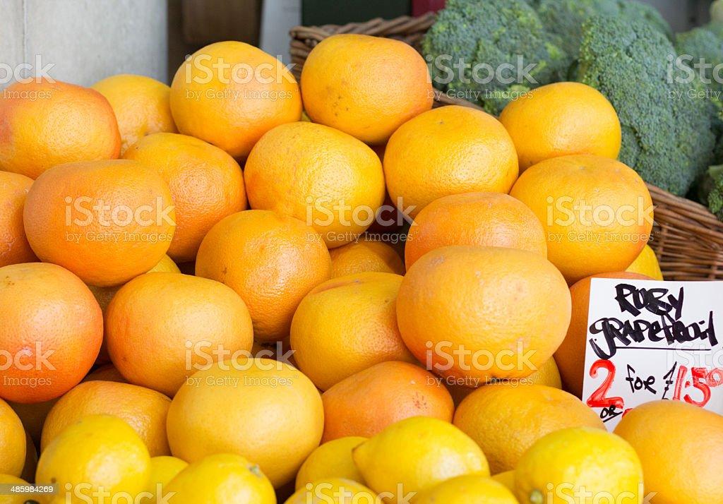 Ruby Grapefruit in Borough Market, London royalty-free stock photo