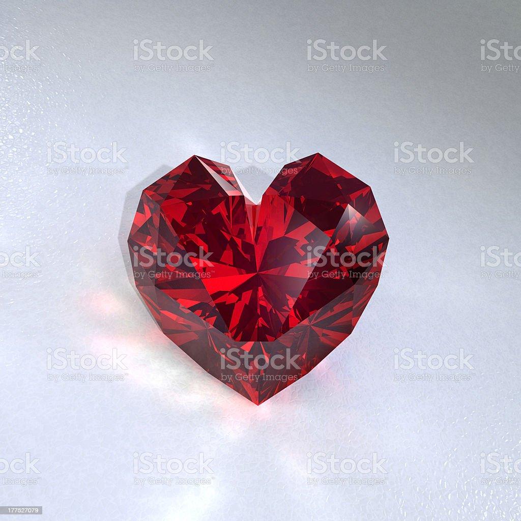 ruby heart stock photo