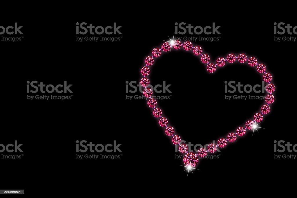 Ruby heart Valentine's Day stock photo