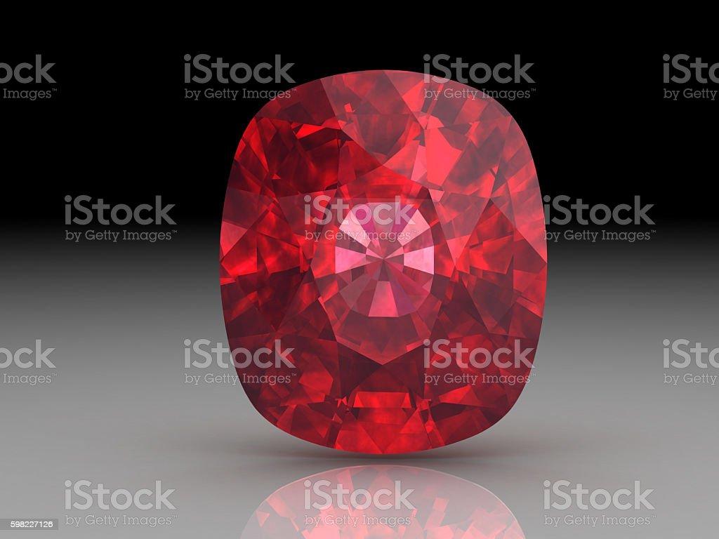 Ruby or Rodolite gemstone stock photo