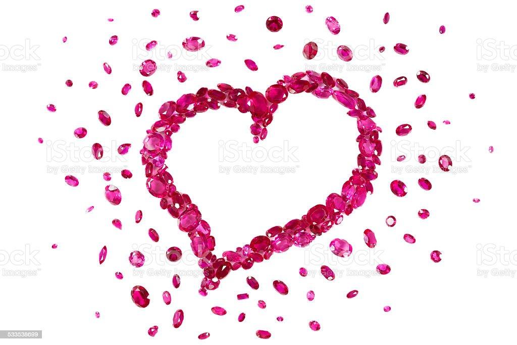 Ruby Red Heart Lizenzfreies stock-foto