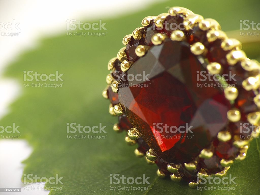 Ruby ring stock photo