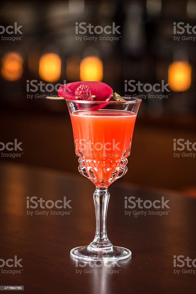 Ruby Rose cocktail stock photo