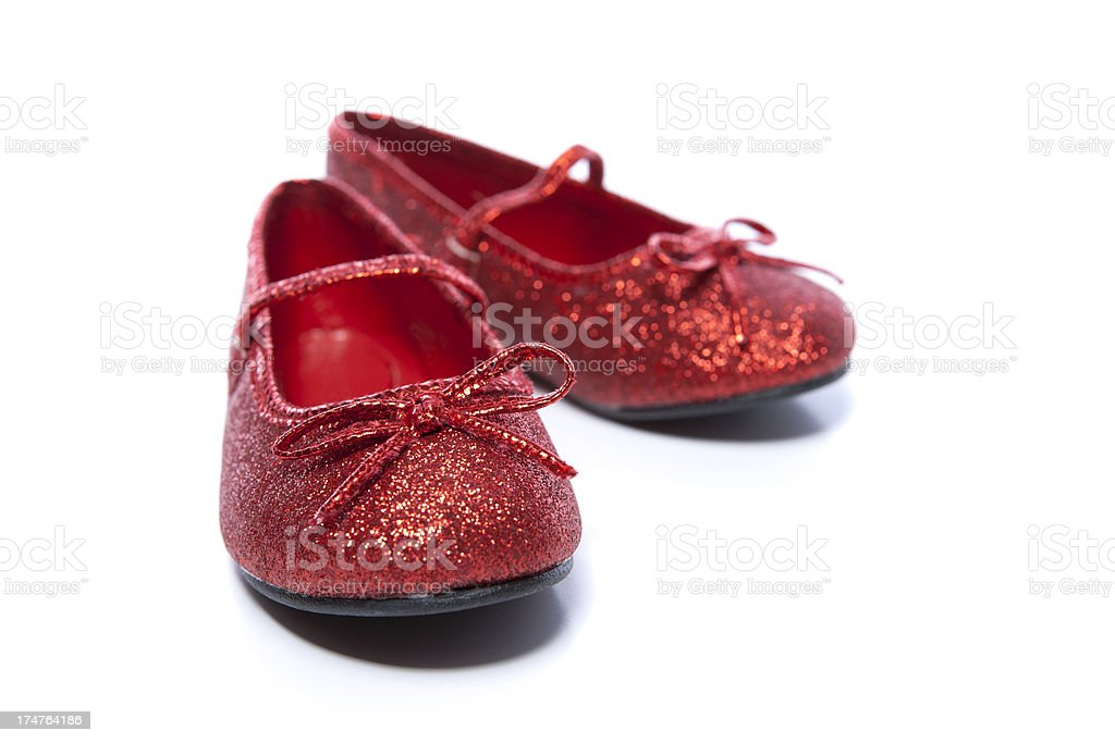 Ruby Slippers on a low angle royalty-free stock photo
