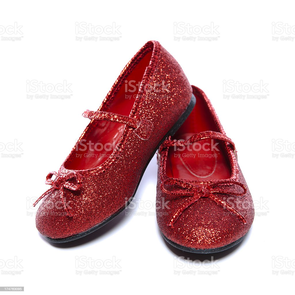 Ruby Slippers with Heel Up royalty-free stock photo