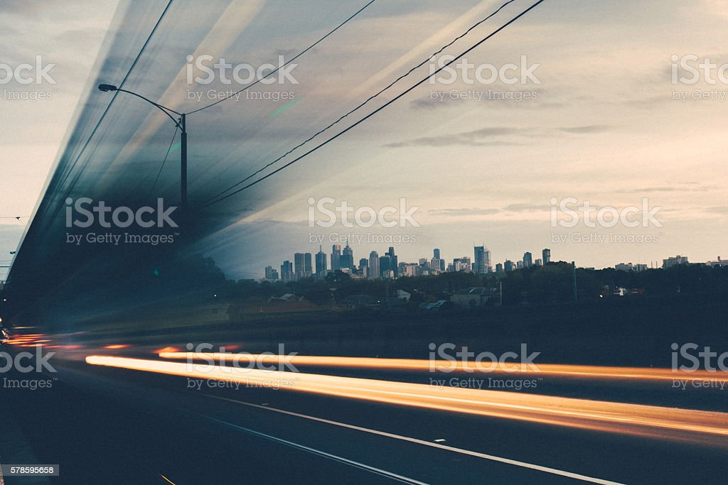 Ruckers Hill, Northcote stock photo