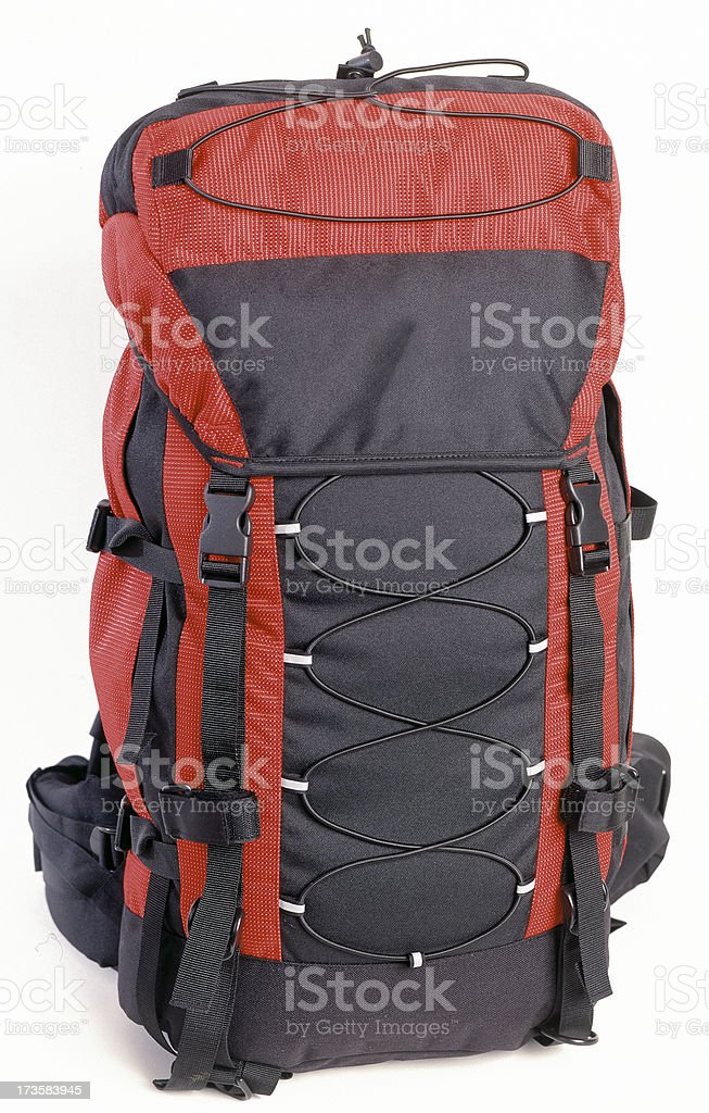 Rucksack with clipping path royalty-free stock photo