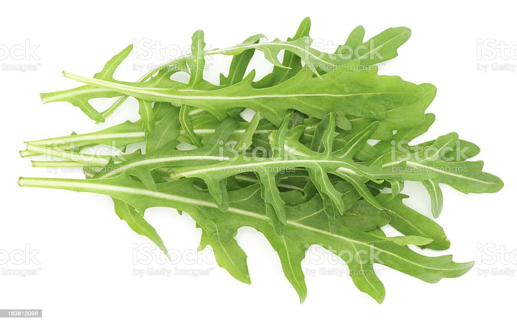 Rucola leaves isolated on white stock photo