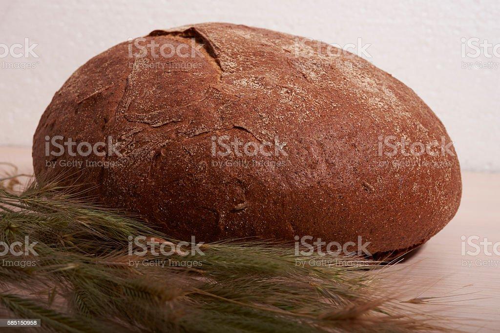 ruddy bread and ears stock photo