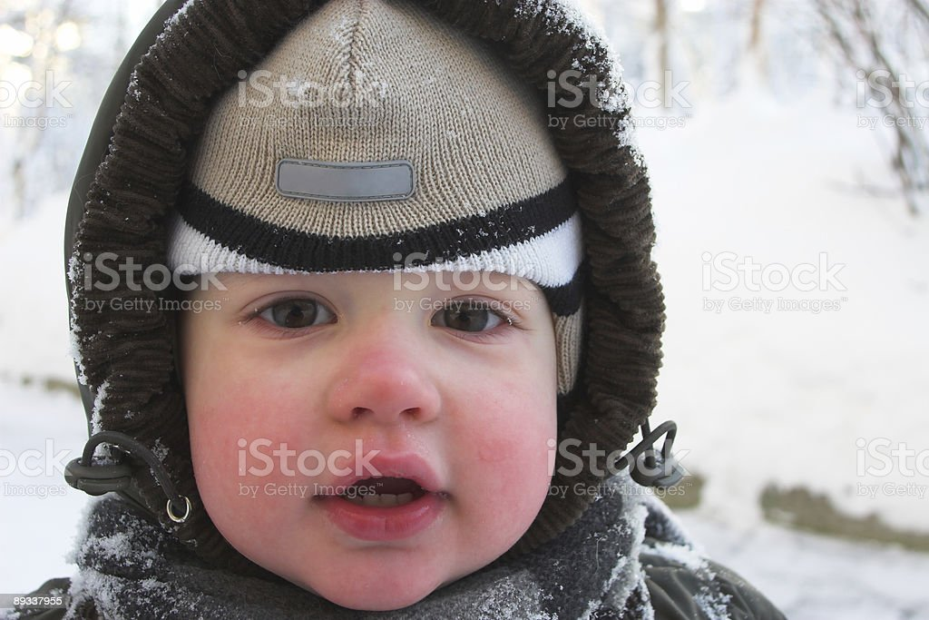 ruddy cheeks stock photo