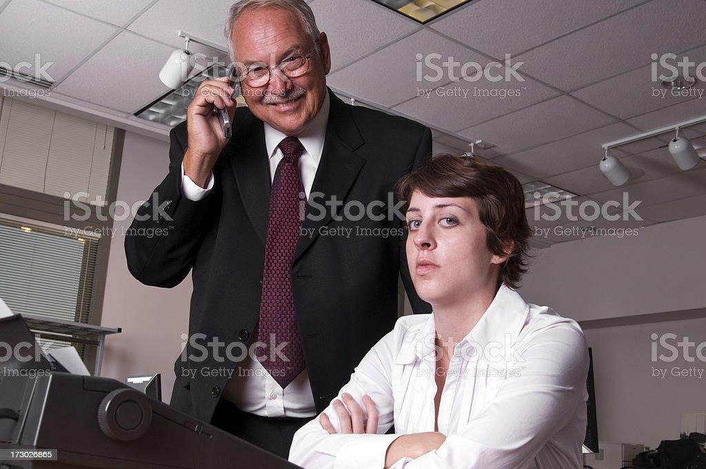 Rude Boss royalty-free stock photo