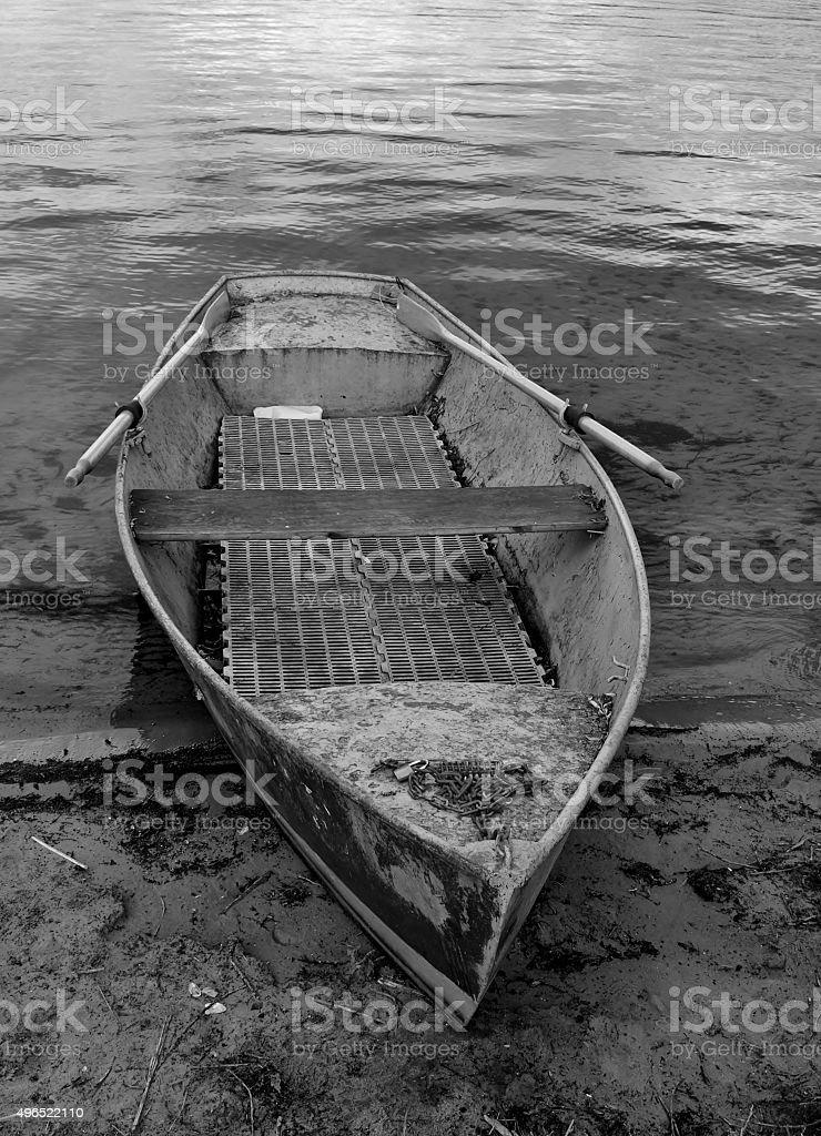 Ruderboot Schwarz-Weiß stock photo