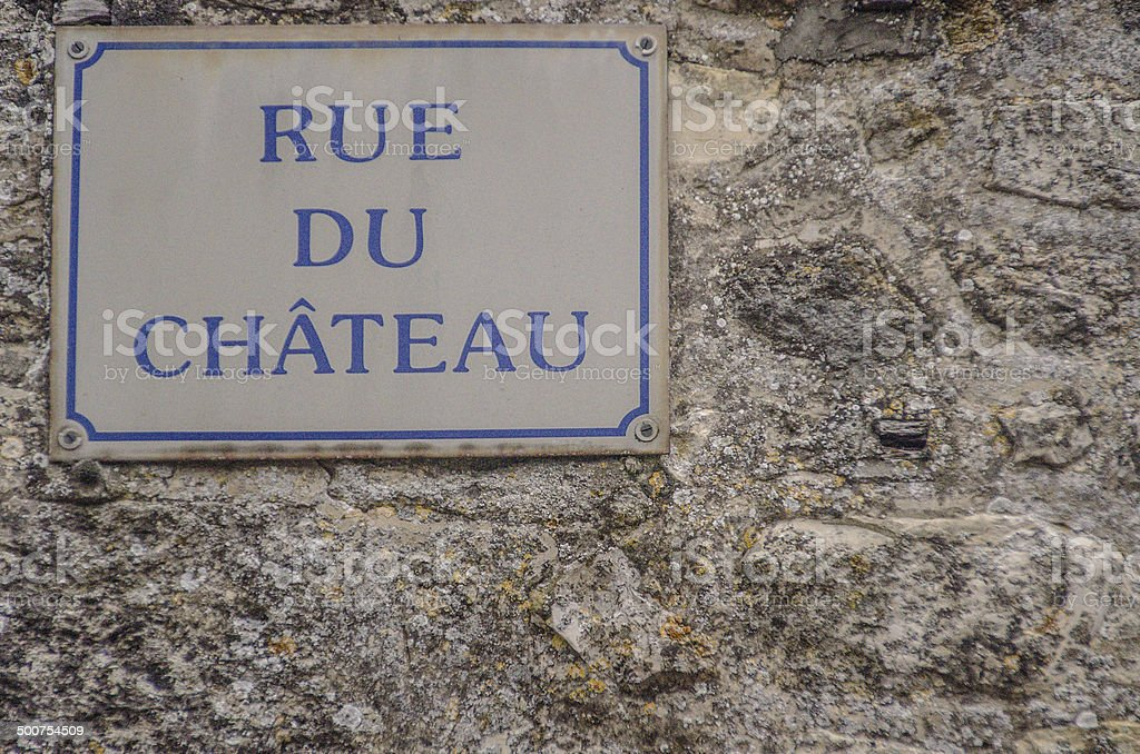 Rue de Chateau royalty-free stock photo