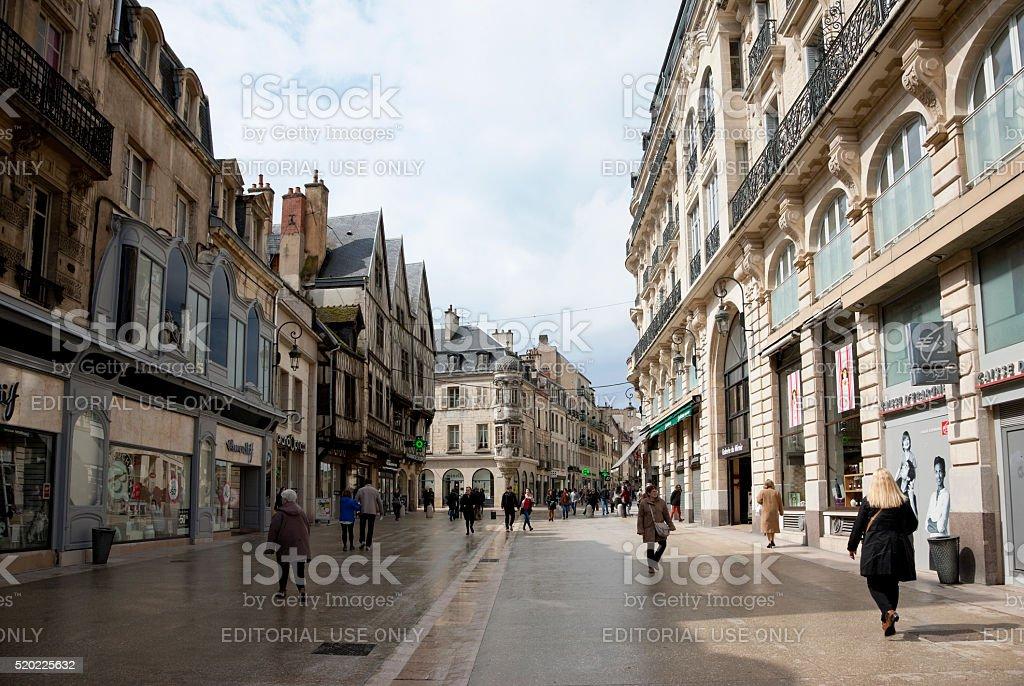 Rue de la Liberte in Dijon, France in April stock photo