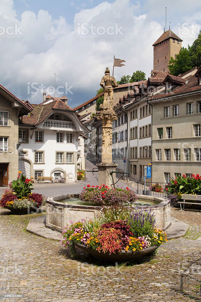 Rue des Forgerons, Fribourg stock photo