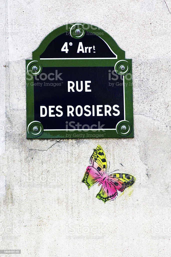 Rue des rosiers royalty-free stock photo