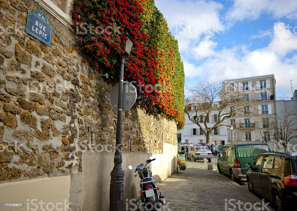 Rue Lepic, Montmartre, Paris royalty-free stock photo