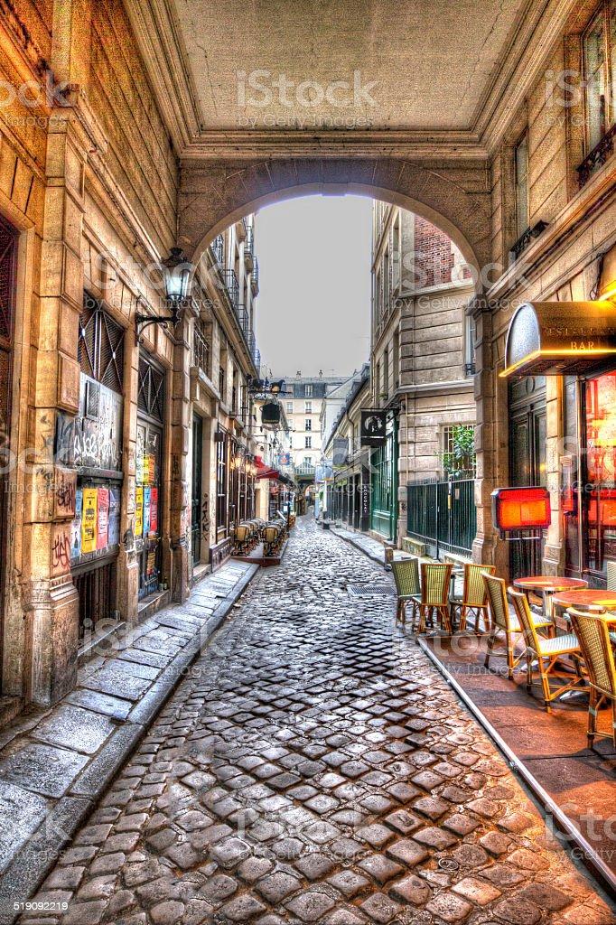 rue Saint-Andre des Arts stock photo