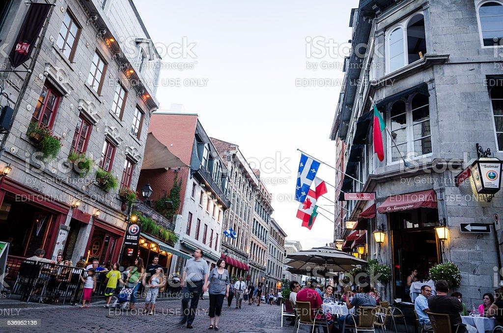 Rue Saint-Paul in Montreal, Quebec stock photo