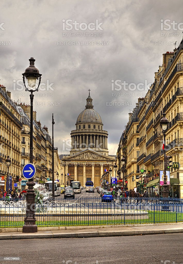 Rue Sufflot in Paris royalty-free stock photo