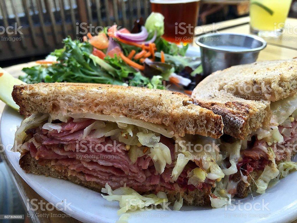 Rueben sandwich stock photo