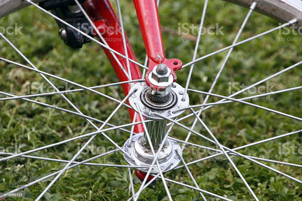 Rueda bicicleta stock photo