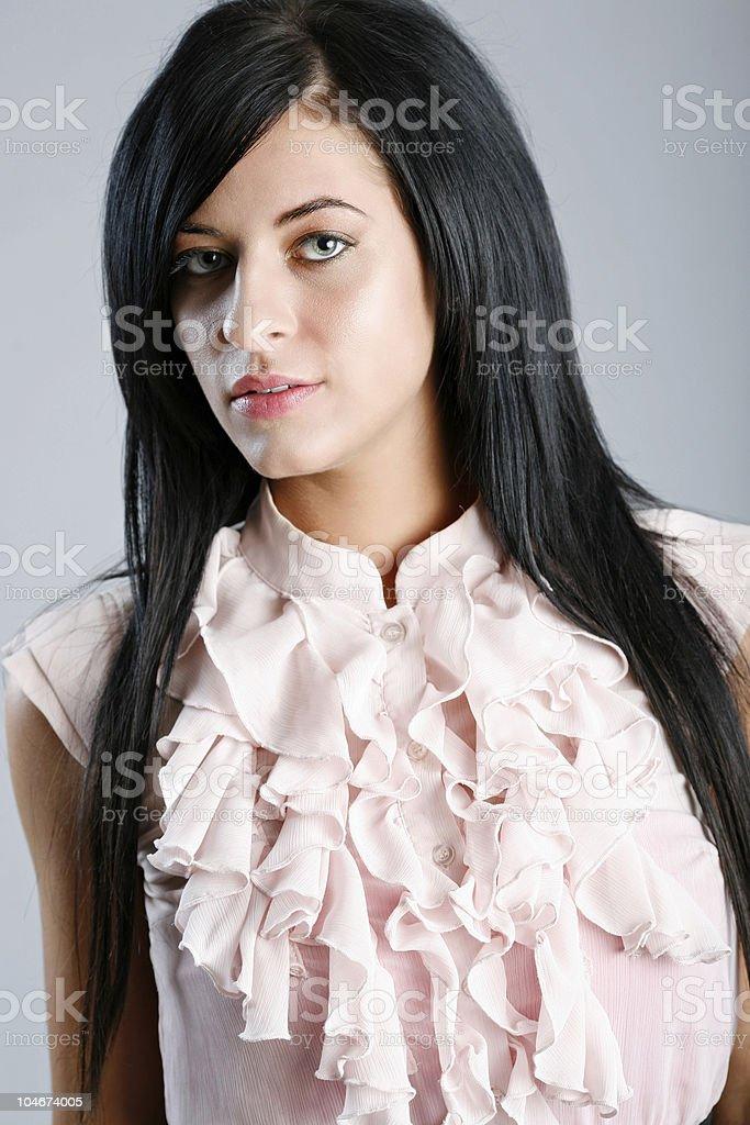 Ruffle shirt stock photo