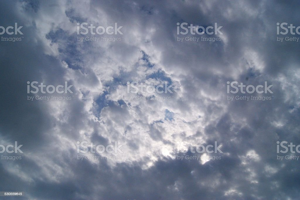 Ruffled Clouds royalty-free stock photo