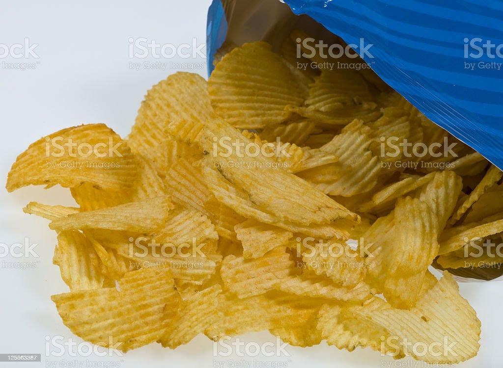 Ruffles stock photo