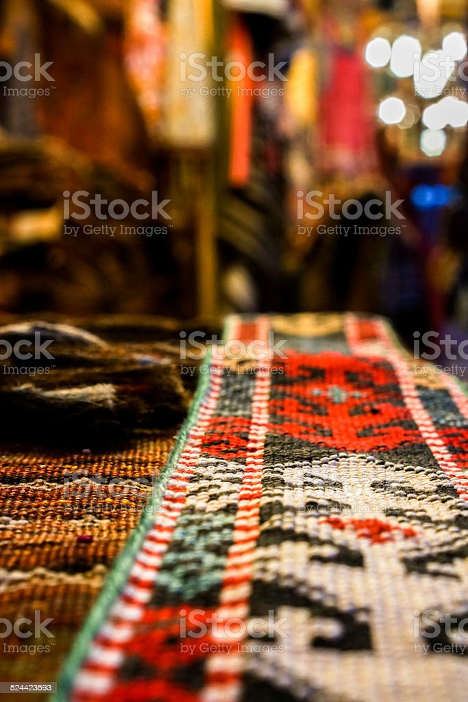 Rug Close Up stock photo