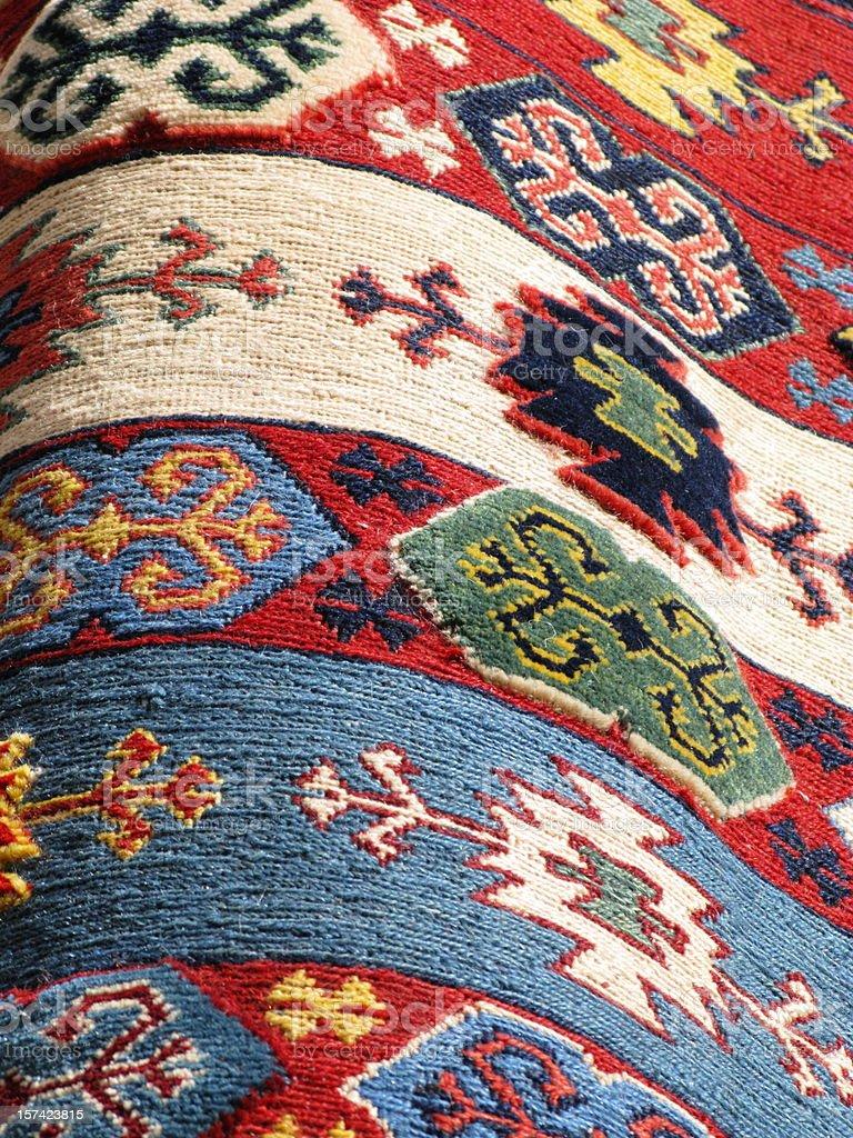 Rug Navaho  Southwestern Mexican Blanket royalty-free stock photo