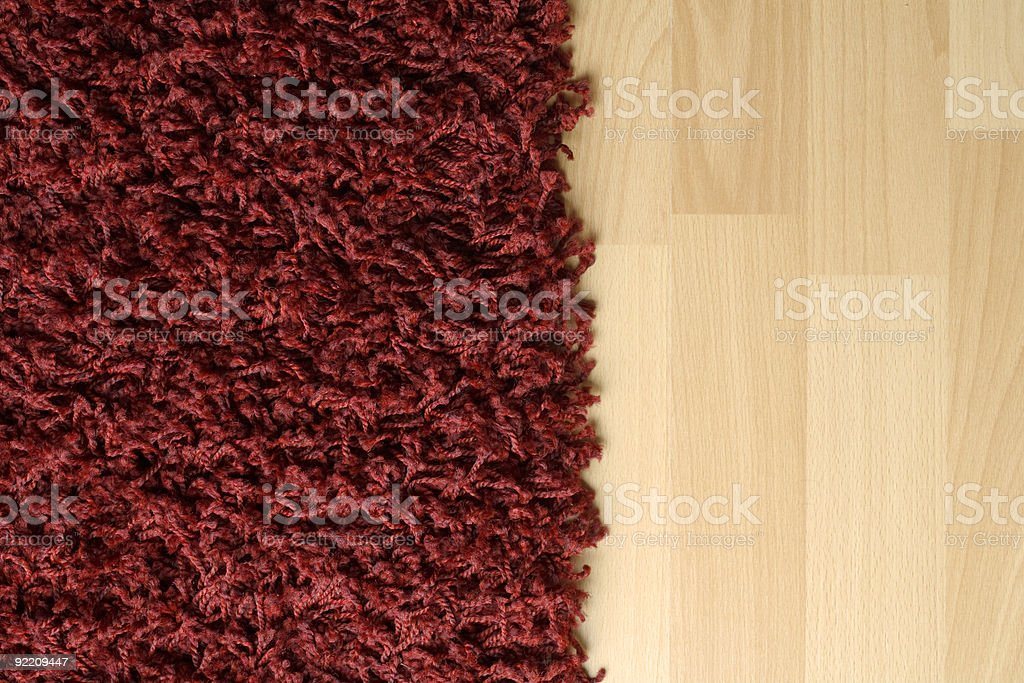 Rug on floor royalty-free stock photo