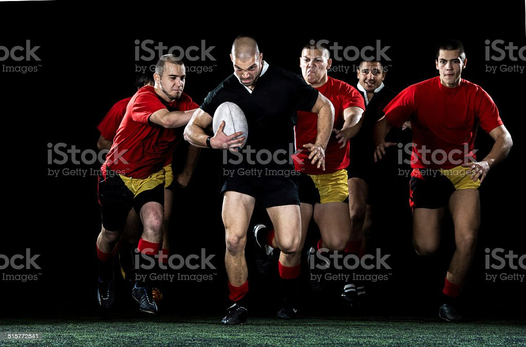 Rugby action. stock photo