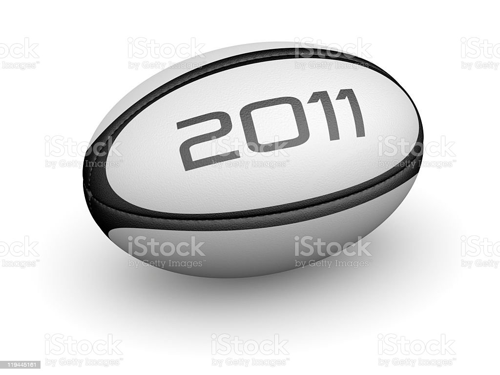 Rugby ball for 2011 royalty-free stock photo