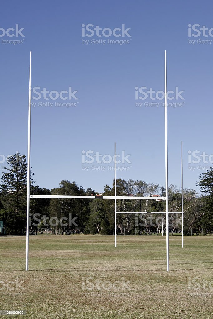 Rugby Field - Goal stock photo