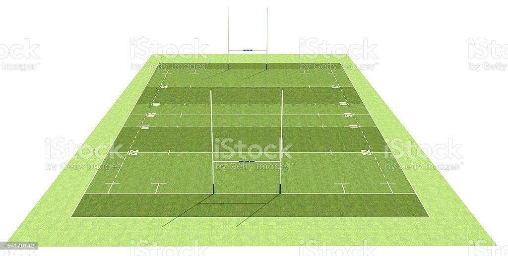 Rugby field royalty-free stock photo