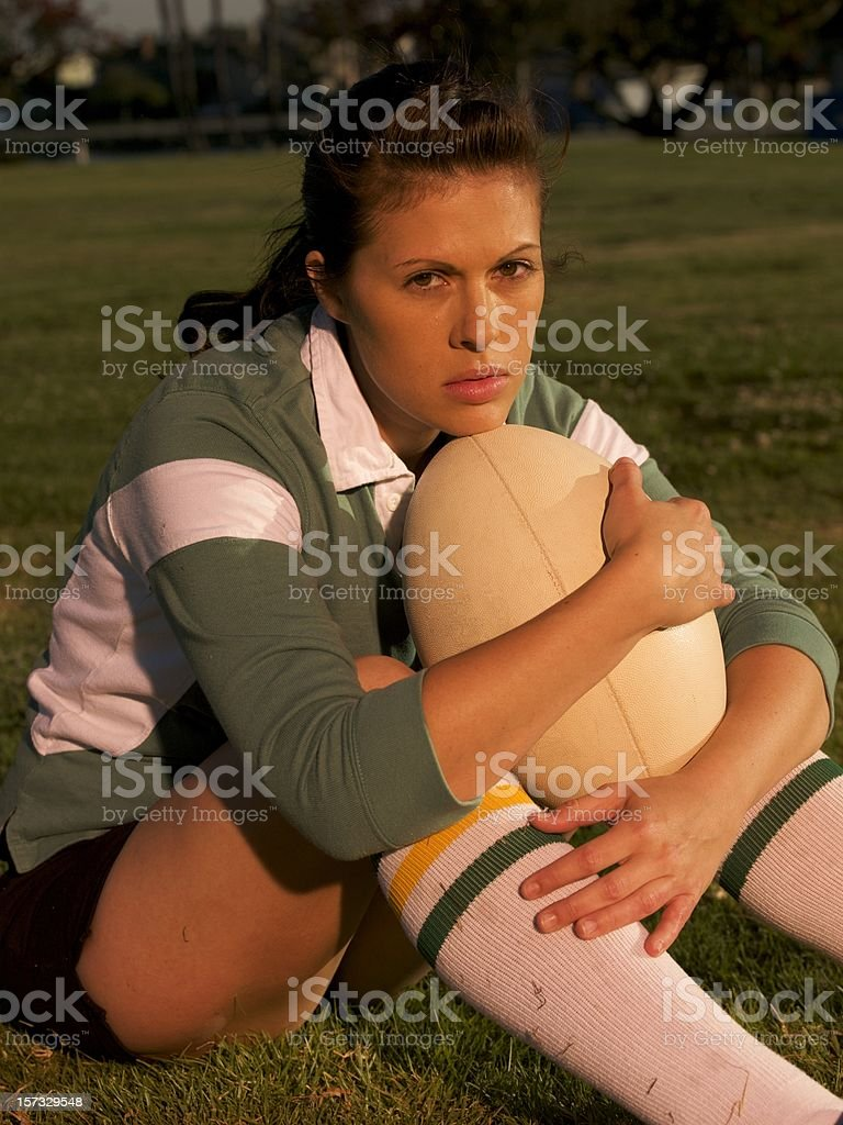 Rugby Football Player royalty-free stock photo
