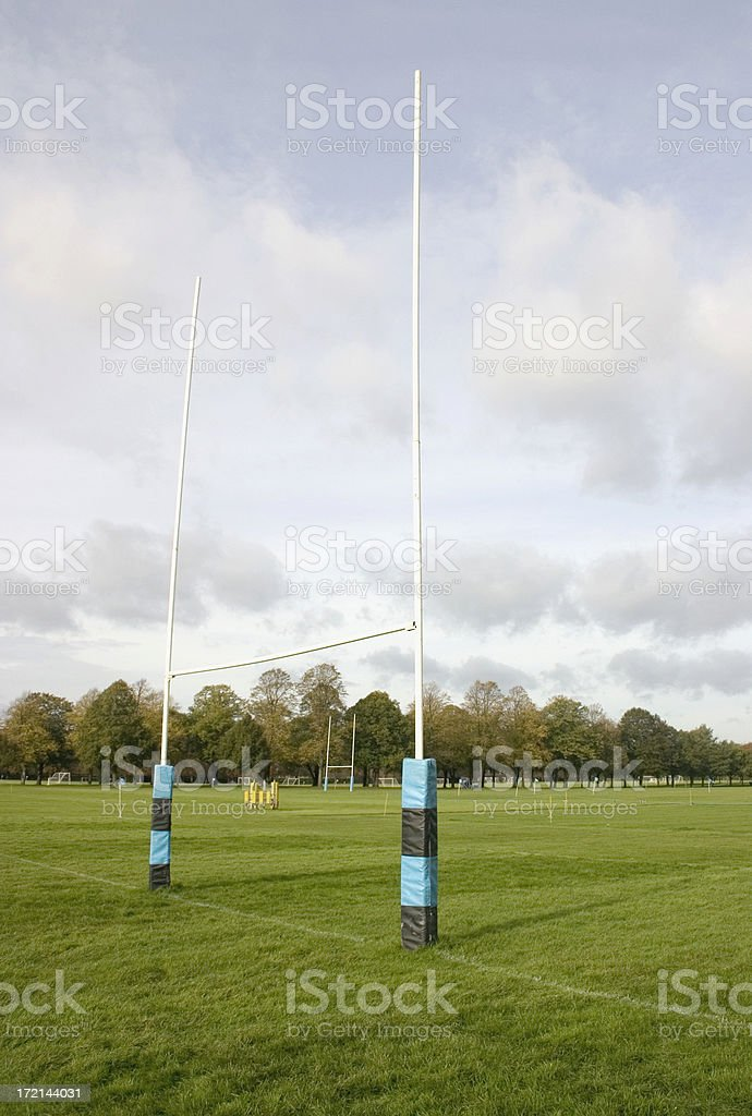Rugby Goal Post stock photo